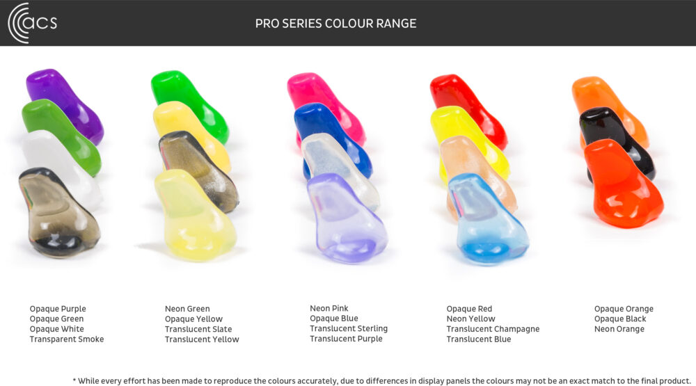PRO SERIES COLOUR CHART