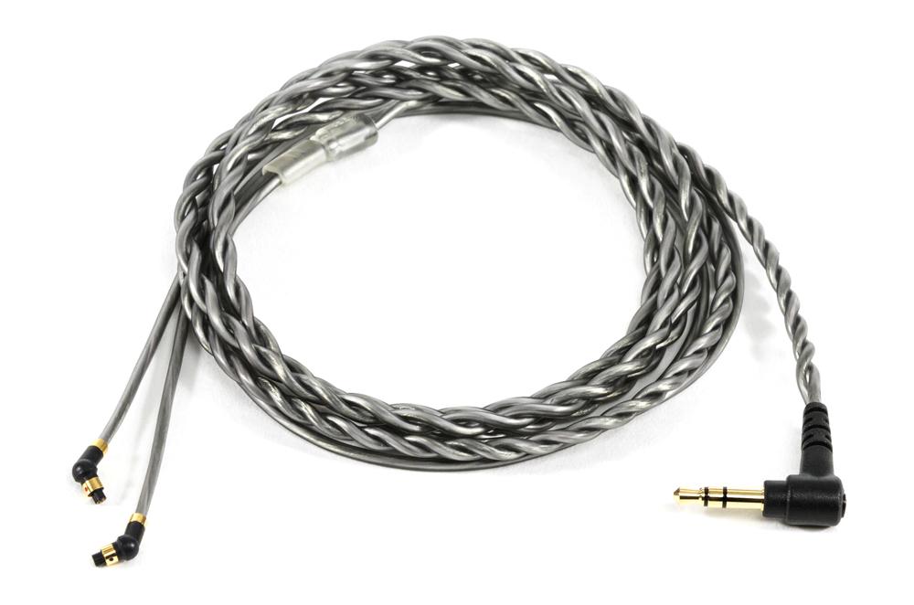 5-Pin IEM twist stereo cable smoke grey