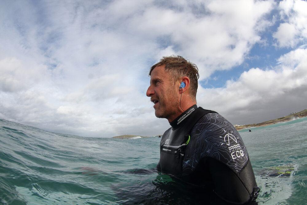 Matt modeling Pro-Aquaz Watersports Earplugs